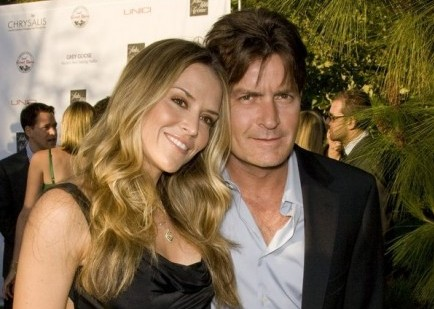 Brooke Mueller and Charlie Sheen. Photo: Chris Hatcher / PR Photos