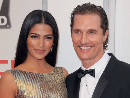 Camila Alves and Matthew McConaughey. Photo: Andrew Evans/ PR Photos
