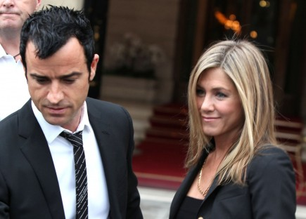 Justin Theroux and Jennifer Aniston. Photo: MJA/FameFlynet Pictures