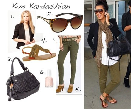 Cupid's Pulse Article: Kim Kardashian's Daytime Date Looks