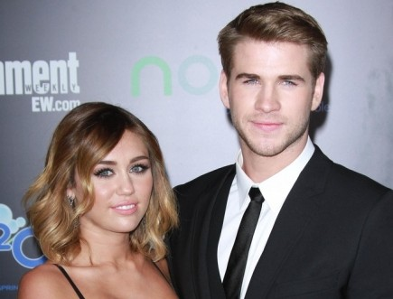 Miley Cyrus and Liam Hemsworth. Photo: Andrew Evans  / PR Photos