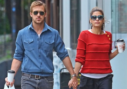 Ryan Gosling and Eva Mendes. Photo: Teach/FameFlynet Pictures