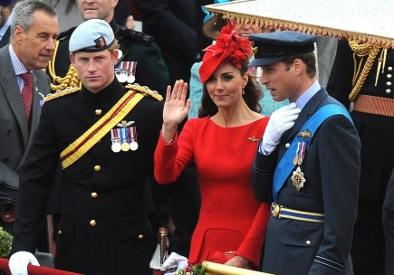 Prince Harry, Kate Middleton and Prince William. Photo: Flynet UK/FameFlynet Pictures
