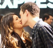Shenae Grimes Exchanges PDA with Josh Beech at Express Grand Opening