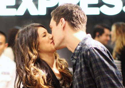 Shenae Grimes and Josh Beech. Photo: JKING/Mawson/FAMEFLYNET PICTURES