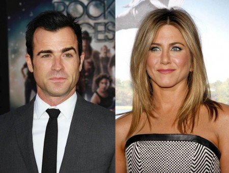 Justin Theroux and Jennifer Aniston. Photos: Andrew Evans  / PR Photos; David Gabber / PR Photos