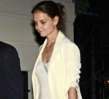 Katie Holmes Kisses Unidentified Man After 'Great' Dinner