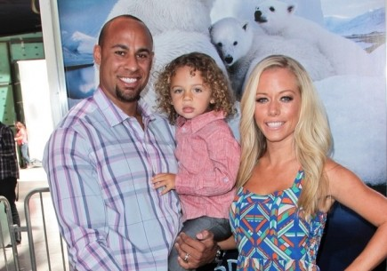 Hank Baskett and Kendra Wilkinson with son Hank. Photo: Andrew Evans / PR Photos