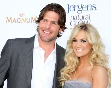 Mike Fisher and Carrie Underwood. Photo: FPA/FameFlynet Pictures
