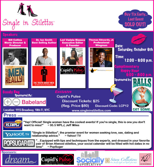 Cupid's Pulse Article: Event Discount: Single in Stilettos in NYC!