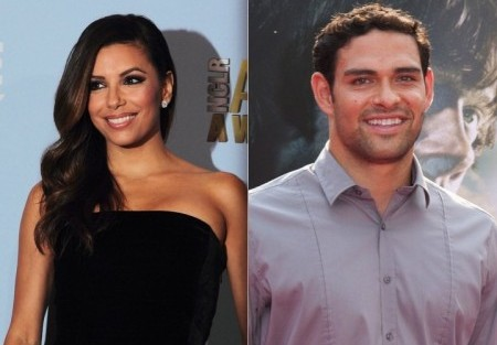 Eva Longoria and Mark Sanchez. Photo: Tina Gill / PR Photos; Charles Norfleet / PR Photos