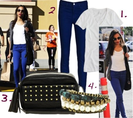 Cupid's Pulse Article: Zoe Saldana's Laid-Back Style