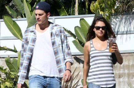 Ashton Kutcher and Mila Kunis. Photo: FAMEFLYNET PICTURES