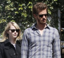 Emma Stone and Andrew Garfield Attend a Cirque du Soleil Production in Hollywood