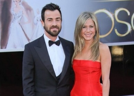 Justin Theroux and Jennifer Aniston. Photo: Andrew Evans / PR Photos