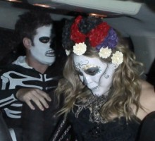 Hilary Duff and Mike Comrie Wear Day of the Dead Costumes