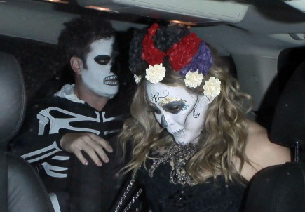 Cupid's Pulse Article: Hilary Duff and Mike Comrie Wear Day of the Dead Costumes