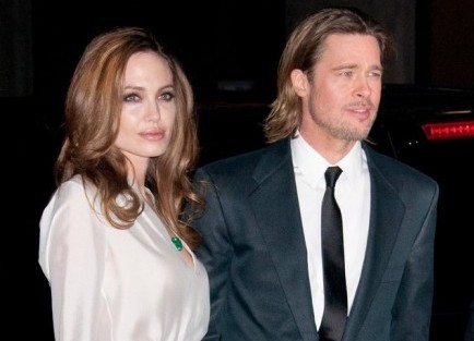 Angelina Jolie and Brad Pitt. Photo: Janet Mayer / PR Photos