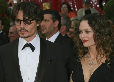 Johnny Depp and Vanessa Paradis. Photo: Bob Charlotte / PR Photos