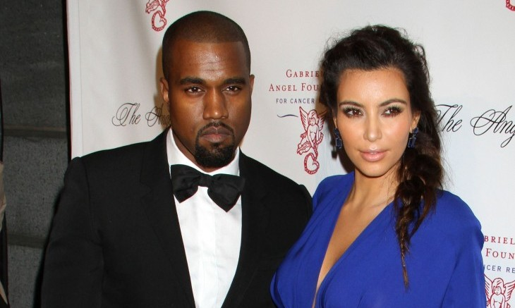 Kanye West and Kim Kardashian. Photo: GG/FAMEFLYNET PICTURES