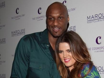 Lamar Odom and Khloe Kardashian. Photo: Justin Paludipan / PR Photos