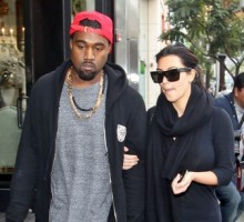 Kim Kardashian and Kanye West Bring Baby North to Funeral