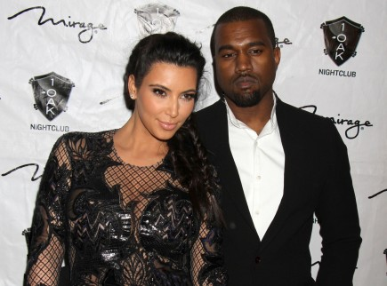 Kim Kardashian and Kanye West. Photo: FPA/FAMEFLYNET PICTURES