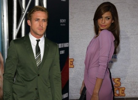 Ryan Gosling and Eva Mendes. Photo: Andrew Evans / PR Photos; David Gabber / PR Photos