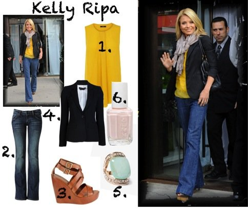Kelly Ripa, LIVE with Kelly and Michael, fashion, ABC