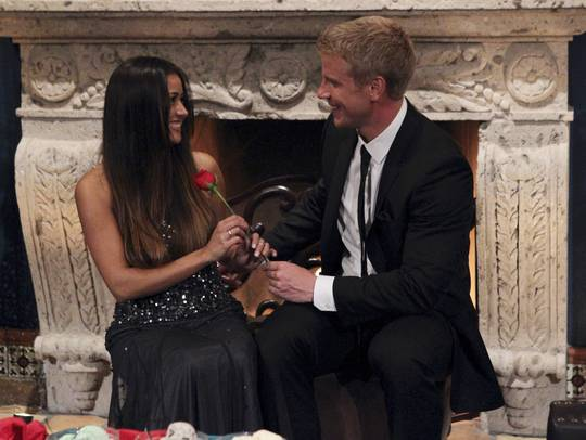 Sean Lowe and Catherine Giudici. Photo: Rick Rowell/ABC