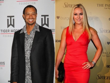 Tiger Woods and Lindsey Vonn. Photo: PRN / PR Photos