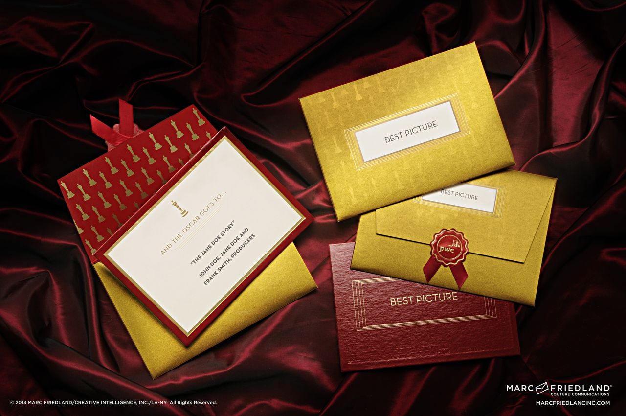 Marc Friedland, Oscars, weddings, invitations, stationary