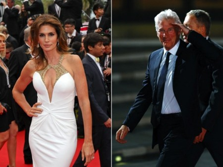 Cindy Crawford and Richard Gere. Photo: Pixplanete / PR Photos; Insidefoto / PR Photos