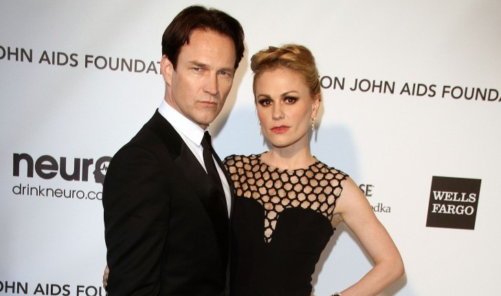 Cupid's Pulse Article: Celebrity Couple: Anna Paquin and Stephen Moyer Show Off Twin Son and Daughter During Family Outing