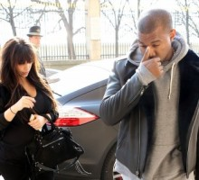 Celebrity Couple Kim Kardashian and Kanye West Spend Easter Weekend in Paris