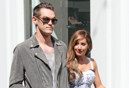 Christopher French and Ashley Tisdale. Photo: Parisa/FAMEFLYNET PICTURES