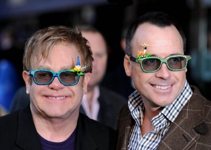 Elton John and David Furnish. Photo: Solarpix / PR Photos