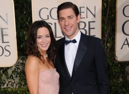 John Krasinski Emily Blunt Wedding.Celebrity Couple Emily Blunt Opens Up About Marriage To