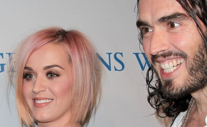 Katy Perry and Russell Brand. Photo: Andrew Evans / PR Photos