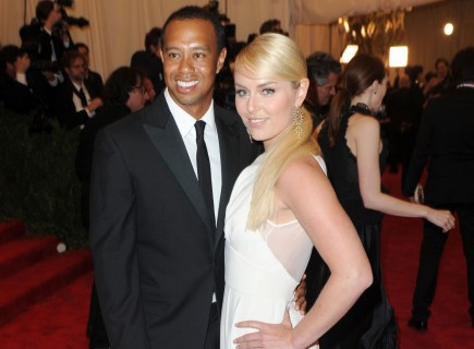 Tiger Woods and Lindsey Vonn. Photo: AAR/FAMEFLYNET PICTURES