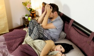 Sad couple after fight in bed. Photo: fabianaponzi / Bigstock.com