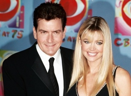 Charlie Sheen and Denise Richards. Photo: Tom Walck / PR Photos
