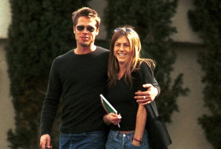 Brad Pitt and Jennifer Aniston. Photo: Famepictures, Inc.