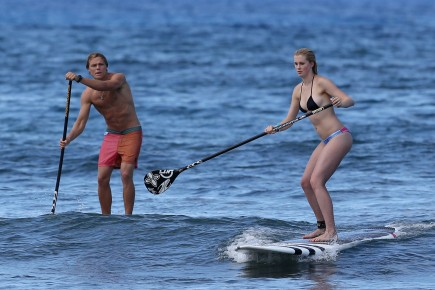 Slater Trout and Ireland Baldwin. Photo: Zeus/Chaos/FAMEFLYNET PICTURES