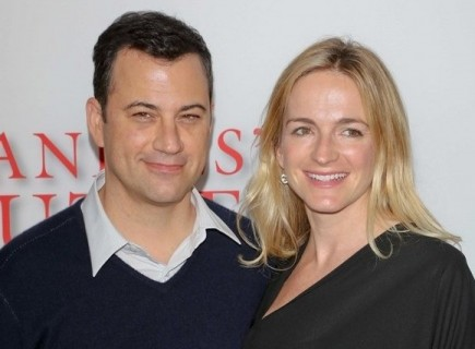 Jimmy Kimmel and Molly McNearney. Photo: Andrew Evans  / PR Photos