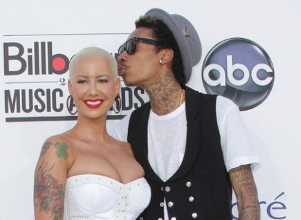 Amber Rose and Wiz Khalifa. Photo: Andrew Evans  / PR Photos