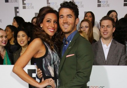 Danielle and Kevin Jonas. Photo: Diane Cohen/FAMEFLYNET PICTURES