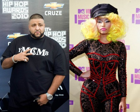 "DJ Khaled and Nicki Minaj. Photos: Utho ""denny"" Coxall / PR Photos; David Gabber / PR Photos"