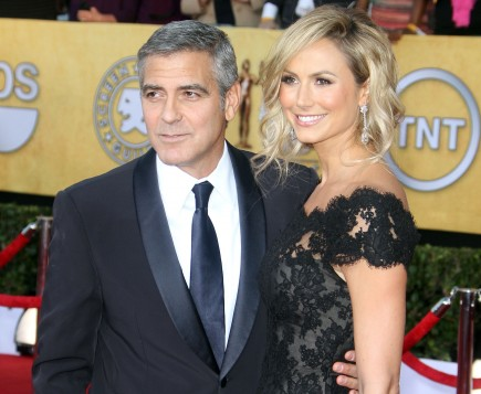 George Clooney and Stacy Keibler. Photo: FAMEFLYNET