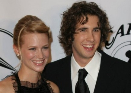 January Jones and Josh Groban. Photo: Glenn Harris / PR Photos